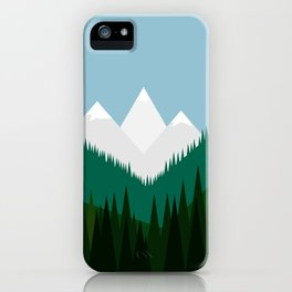 Pacific Northwest Mountains iPhone Case