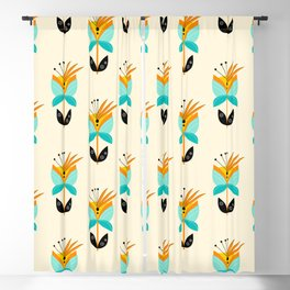 Abstract Flower Blackout Curtain