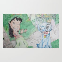 Lilo & Stitch at Home Rug