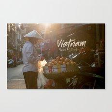 Vietnam street market Canvas Print