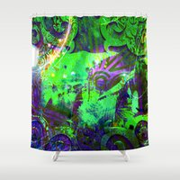 baroque Shower Curtains featuring The baroque by shiva camille