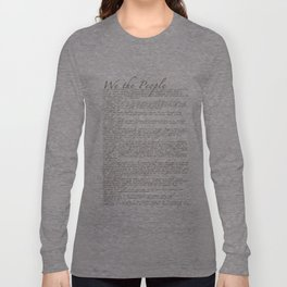 United States Bill of Rights (US Constitution) Long Sleeve T-shirt