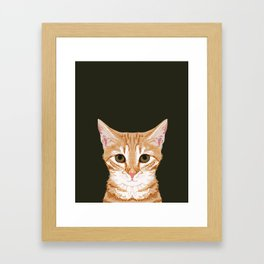 Chase - Cute Cat gifts for pet lovers cat lady gifts and perfect gifts for cat person and cute tabby Framed Art Print