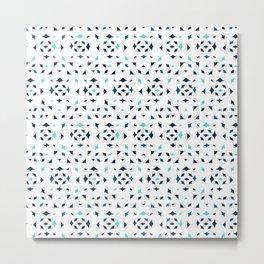 Mobula Rays Pattern Metal Print