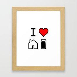 I Heart Homebrew Framed Art Print