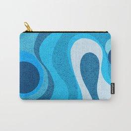 Blue Shag: A Wall Rug Design Carry-All Pouch