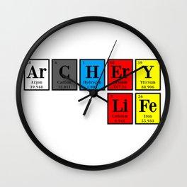 ArCHErY LiFe elements Wall Clock