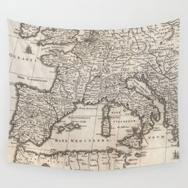 Vintage Map of Europe (1852) Wall Tapestry