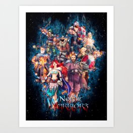 The Nordic Warriors Color from Nordic Warriors Art Print