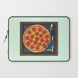 Pizza Record Player Laptop Sleeve
