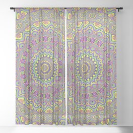 Acid Color Mandala Sheer Curtain