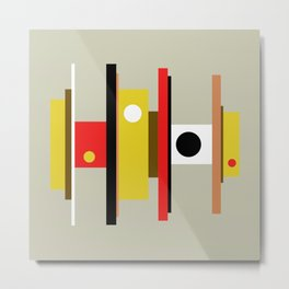 Mid Century Geometric Art Design Metal Print