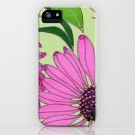 Echinacea on Pistachio iPhone Case