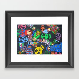 Dolls N Skulls Framed Art Print