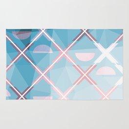 Abstract Triangulated XOX Design Rug
