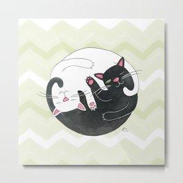 Cat Philosophy Metal Print