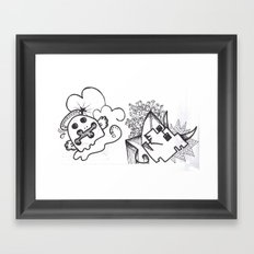Crazzy I Framed Art Print