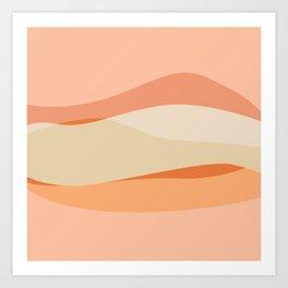 Peachy Waves Art Print