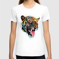 animals T-shirts featuring FEROCIOUS TIGER by dzeri29