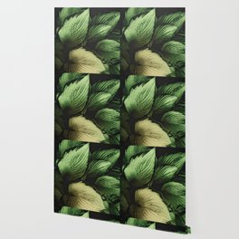 Vintage Japanese Hosta Wallpaper