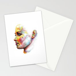 Head Pointed Out Stationery Cards