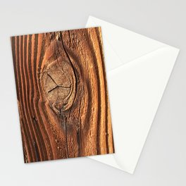 Honey Colored & Mahogany-Red Wood With Elegant Knot Stationery Cards