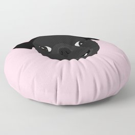 Black Pug Floor Pillow