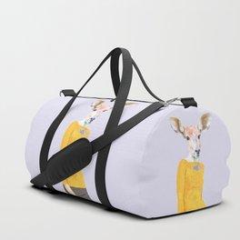 Fashionable Antelope Illustration Duffle Bag
