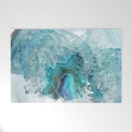 Blue Aqua Agate Welcome Mat