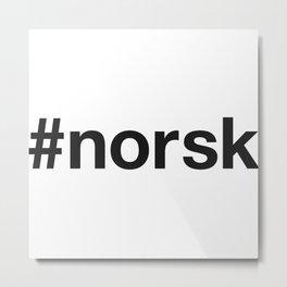 NORWEGIAN Hashtag Metal Print