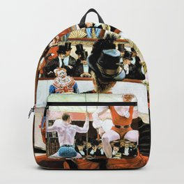 James Tissot - Women of Paris, The Circus Lover - Digital Remastered Edition Backpack