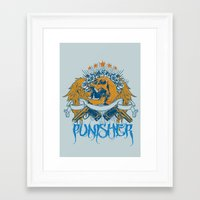 punisher Framed Art Prints featuring Punisher by Tshirt-Factory