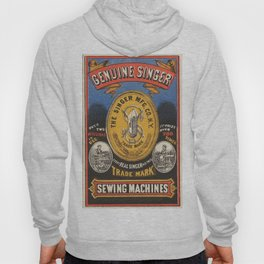 Vintage poster - Singer Sewing Machine Hoody