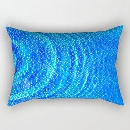 Blue Rippling Water Air Bubbles Rectangular Pillow