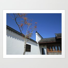 Courtyard at Chinese Garden #2 Art Print