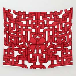 Little Red Ribbon Wall Tapestry