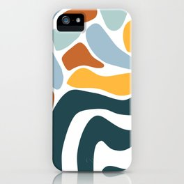 Abstract Ocean Waves iPhone Case
