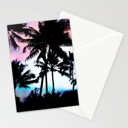 Sunset Summer Palm Trees Stationery Cards