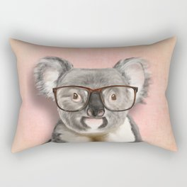 Funny koala with glasses Rectangular Pillow