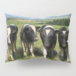 Curious Kiwi Cows Pillow Sham