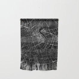 Shanghai Black Map Wall Hanging