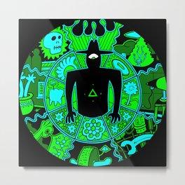 Men In Black #1 Green Metal Print
