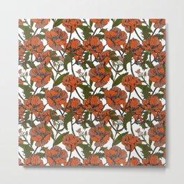 Autumnal flowering of poppies I Metal Print