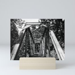 Forest Train Bridge Mini Art Print