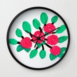 Roses IV Wall Clock
