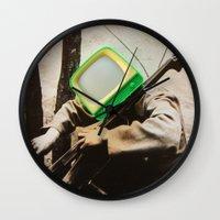 bass Wall Clocks featuring Bass TV by Marko Köppe