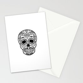 Mexican Skull - White Edition Stationery Cards