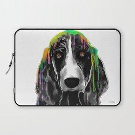 Basset Hound BW Laptop Sleeve
