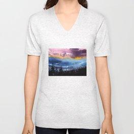 Blured sunset Unisex V-Neck