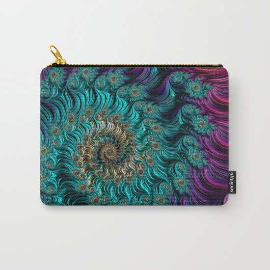 Aqua Swirl Carry-All Pouch